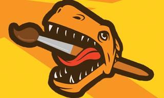Dinosaur Warrior Coloring