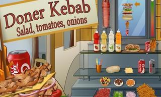 Döner Kebab : salade, tomates, oignons