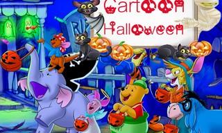 Cartoon Halloween Slide Puzzle