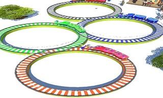 Lowpolly Train Racing Game