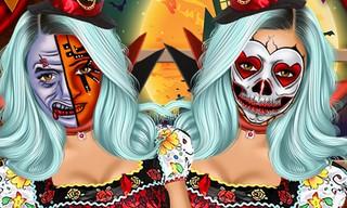 Jenner Halloween Face Art