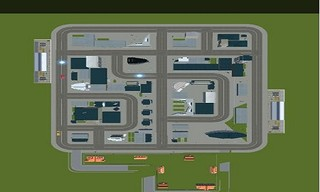 Top Down Taxi Car Game
