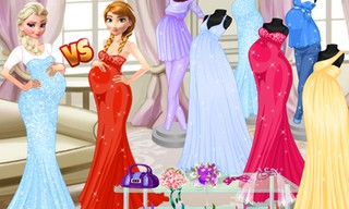 Pregnant Princesses Fashion Dressing Roo