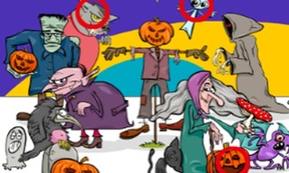 Find 5 Differences Halloween
