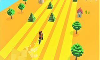 Infinite Bike Runner Game 3D