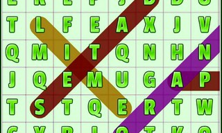 Word Search Fruits