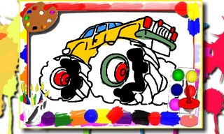 Monster Truck Coloring Book