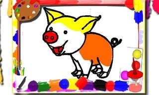 Pigs Coloring Book