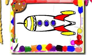 Rockets Coloring Book
