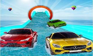 Water Slide Car Stunt Racing Game 3D