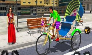Bicycle Tuk Tuk Auto Rickshaw Free Driving Game