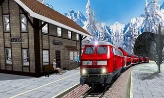 Uphill Station Bullet Passenger Train Drive Game
