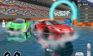 Water Car Stunt Racing 2019 3D Cars Stunt Games