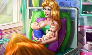 Sleepy Princess Twins Birth