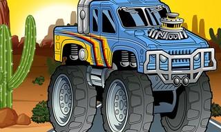 Crazy Monster Truck Jigsaw