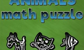 Animals math puzzles