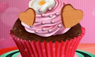 First Date Love Cupcake