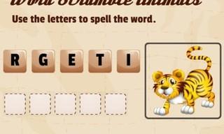 Word Scramble Animals