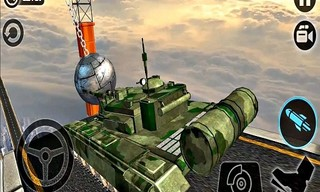 Impossible US Army Tank Driving Game