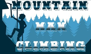 Mountain Man Climbing